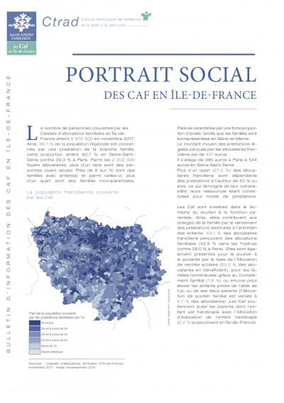 PORTRAIT SOCIAL DES CAF EN ÎLE-DE-FRANCE